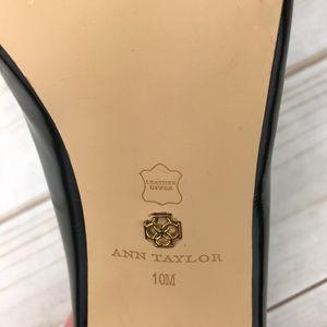 Ann Taylor Shoes - Ann Taylor Size 10 Black Liz Zipper Heels